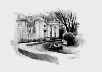 Alberto Ascari. Ferrari D50. Aguada. Daniel Sonzini