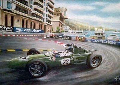 Lotus 24 en Monaco. Pinturas al Oleo del Automovilismo - Daniel Sonzini