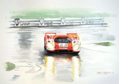 Porsche 917 bajo la lluvia. Daniel Sonzini
