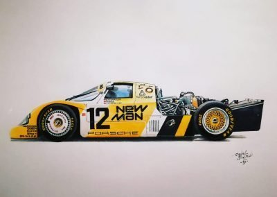 Porsche-962 New Man. Daniel Sonzini