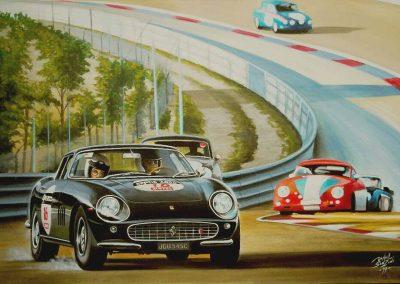 Ferrari 275 GTB. Circuit Dijon-Prenois. Daniel Sonzini