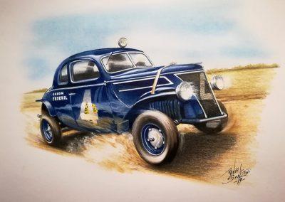 Ángel Lo Valvo. Coupe Ford V8 1937. Daniel Sonzini