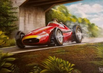 Maserati. Juan Manuel Fangio. Daniel Sonzini Artista