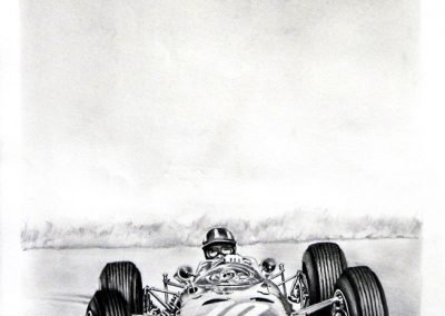Graham Hill BRM P261 1964. Lápiz. Daniel Sonzini