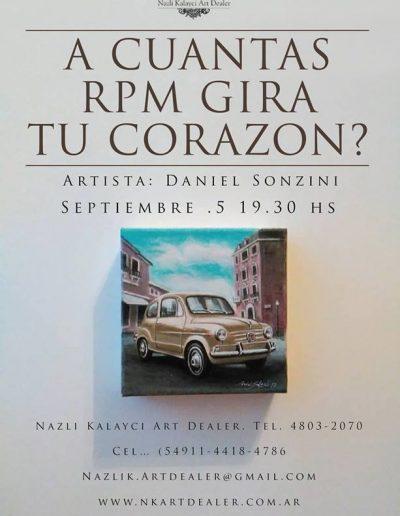 A Cuantas RPM Gira tu Corazón - La Biela - Daniel Sonzini