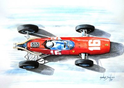 Montecarlo, 1966. Ferrari Lorenzo Bandini. 42x30 cm