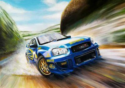 Subaru Impreza. Peter Solberg. 100x60 cm