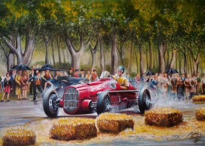 Volpi Chevrolet. Juan Manuel Fangio. GP Palermo. 100x60 cm